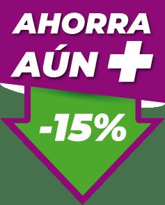Icono Ahorra un 15%