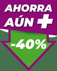 Icono Ahorra un 40%